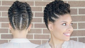 Coiffures protectrices Updo with Flat Twists