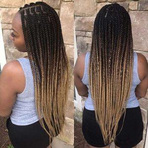 box braids color