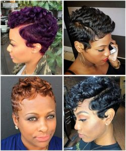 Coupe courte femme afro
