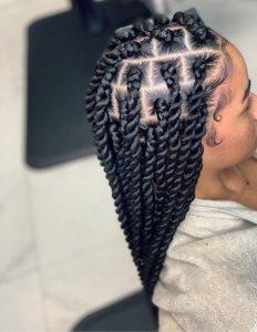 braids vanille twist coiffure