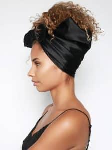 anti frisottis cheveux crepus bonnet en satin