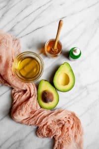 masque cheveux maison miel avocat huile olive