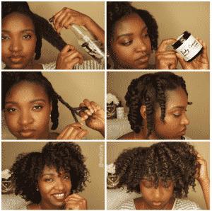 twist out sur cheveux crepus