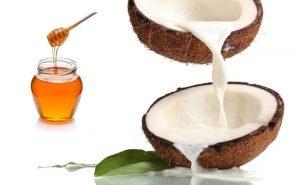 Masque cheveux lait de coco miel