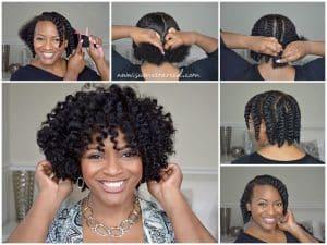 flat twist out boucles cheveux